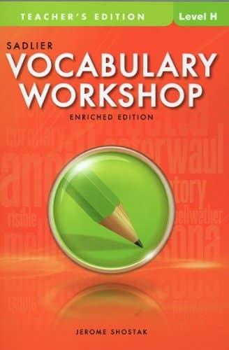 Vocabulary Workshop Level H Unit 6 Answers